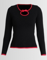 Assuili William de Faye Bi-Color Round Neck Sweater Black Photo