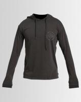 Silent Theory Tedium Long Sleeve Hooded Shirt Charcoal Photo