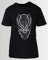 Primate Collectables Black Panther Face Tee Black Photo
