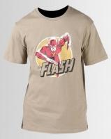 Primate Collectables DC Comics The Flash Run T-Shirt Khaki Photo