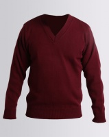 Highland Brook Classic V-Neck Jersey Maroon Photo