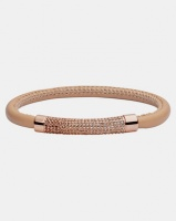 Fossil Glam Leather Bracelet Rose Gold-plated Photo