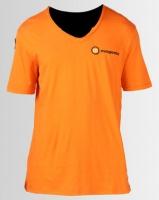 Magents Basic V-Neck Small Logo Tee Orange Photo