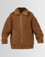 All About Eve Shearling Oversized Jacket Tan Photo