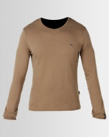 Soviet DUST Mens Long Sleeve Top Taupe Photo