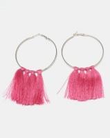Black Lemon Statement Tassel Earrings Pink Photo