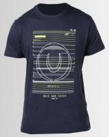 Duck & Cover Gamma Raised Print T-shirt Deep Navy Photo
