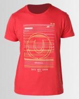 Duck & Cover Gamma Raised Print T-shirt Mars Red Photo