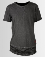 Ringspun Nordic Camo Detail Washed T-shirt Charcoal Photo