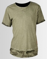 Ringspun Nordic Camo Detail Washed T-shirt Olive Photo