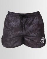 Crosshatch Sanros Camo Swim Shorts Black Photo