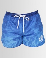 Crosshatch Mythrop Gradient Print Swim Shorts Blue Photo