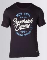 Crosshatch Laithkirk Puff Print T-Shirt Navy Night Sky Photo
