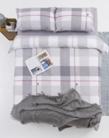 Pierre Cardin Selby Check Duvet Cover Set Grey/White Photo