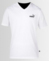 Puma Sportstyle Core Ess V Neck Tee White Photo