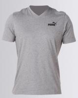 Puma Sportstyle Core Ess V Neck Tee Grey Photo