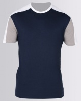 New Look Colour Block Muscle Fit T-Shirt Navy Photo