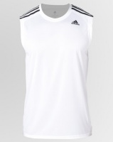 adidas Performance D2M Sleeveless 3 Stripes Tee White Photo