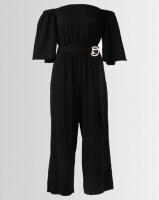 City Goddess London Bardot Culotte Jumpsuit With Belt Black Photo