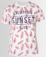 South Shore Sketch Sunset T-shirt Ivory Photo