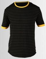 Resist Retro Stripe T-shirt Black Photo