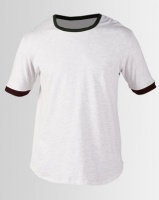 Resist Retro Tipped T-shirt Grey/Red Photo