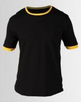 Resist Retro Tipped T-shirt Black Photo