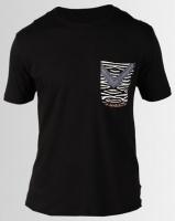 Resist Printed Pocket Scoop T-Shirt Black Photo