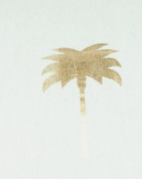 Grey Gardens Palm Tree Scatter Cushion Gold/White Photo