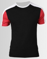 New Look Colour Block Muscle Fit T-Shirt Black Photo