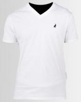 Polo V Neck T-Shirt White Photo