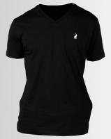 Polo V Neck T-Shirt Black Photo