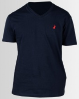 Polo V Neck T-Shirt Navy Photo