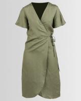 All About Eve Avery Wrap Dress Khaki Photo