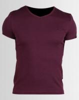 Soviet Bolt Evo Short Sleeve Muscle Fit T-Shirt Bordeaux Photo