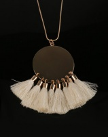 All Heart Disk and Tassel Necklace White Photo