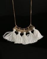 All Heart Fan Tassel Necklace White Photo