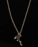 All Heart Flamingo Necklace Gold-Tone Photo