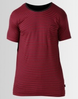 Silent Theory Stripe Pocket Tee Red Photo