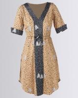 African Style Story Drawstring Dress Multi Photo