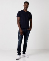 Cutty CCable Mens T-Shirt Navy Photo
