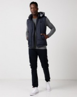 Cutty Control Hooded Puffer Gilet Navy Photo