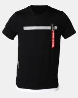 K Star 7 Retro Reflex T-Shirt Black Photo