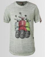 K Star 7 Retro Vespa T-Shirt Olive Photo