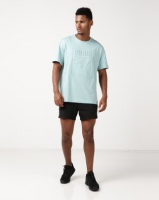 Puma Sportstyle Prime Archive Embossed Print Tee Blue/Green Photo