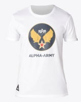 Alpha Industries Wings Army T-Shirt White Photo