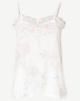 Poppy Divine Printed Strappy Top Ivory With Print Blush/Grey Photo