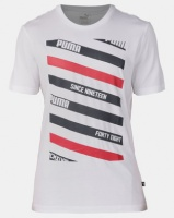 Puma Sportstyle Core Line Graphic Tee White Photo