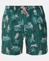 Chester St Predator Swim Trunk Teal With Pink Photo