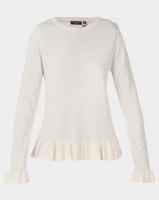Brave Soul Peplum Jumper With Flute Sleeve Oyster Photo